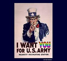 LGBT Uncle Sam Wants You by CafePretzel