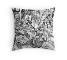 Bad lands Throw Pillow