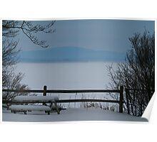 Lake Champlain Winter Scene Poster