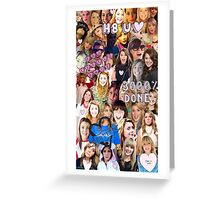 Grace Helbig collage Greeting Card