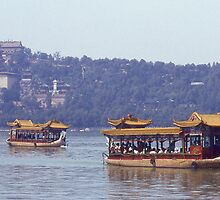 Pleasure Boat, Summer Palace, Beijing. China. by Peter Stephenson