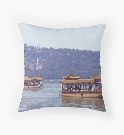 Pleasure Boat, Summer Palace, Beijing. China. Throw Pillow