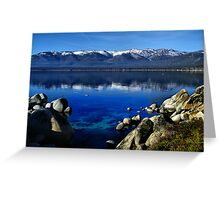 Lake Tahoe Blue Greeting Card