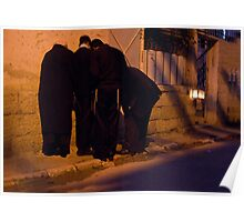 Kindling Hanukkkah candles Poster