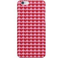 Red Love Hearts On Pink iPhone Case/Skin