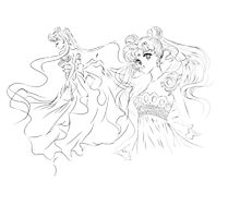 Sailor Moon - Princess Serenity Photographic Print