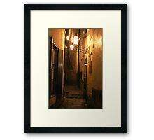 Street at Night Framed Print