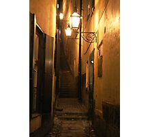 Street at Night Photographic Print
