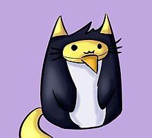 Penguin-cat Luke by mandylocklear