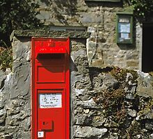 Post Box Castle Bolton N. Yorkshire, UK, 1980s. by David A. L. Davies