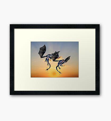 Dragons Battle for the Skies Framed Print