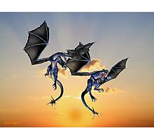 Dragons Battle for the Skies Photographic Print