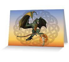 Warrior Dragon Greeting Card