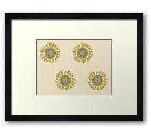 Sort-Of Sun Discs Framed Print