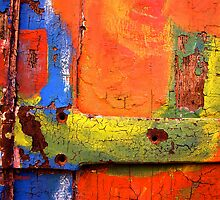 Crusty Painted Door by Etienne RUGGERI Artwork eRAW