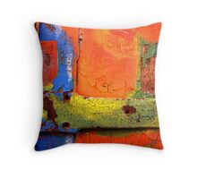 Crusty Painted Door Throw Pillow