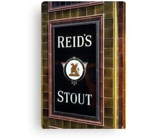 Reid's stout sign at Pub entrance, London, 1975, Canvas Print