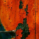 crunchy red painted wall by Etienne RUGGERI Artwork