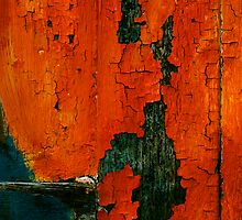 crunchy red painted wall by Etienne RUGGERI Artwork eRAW