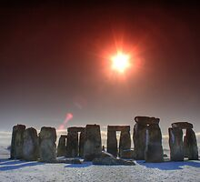 Orange Stone Henge by Peter Sweeney