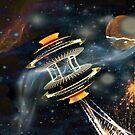 Starship with Bussard Ramjet Propulsion by Jane Neill-Hancock