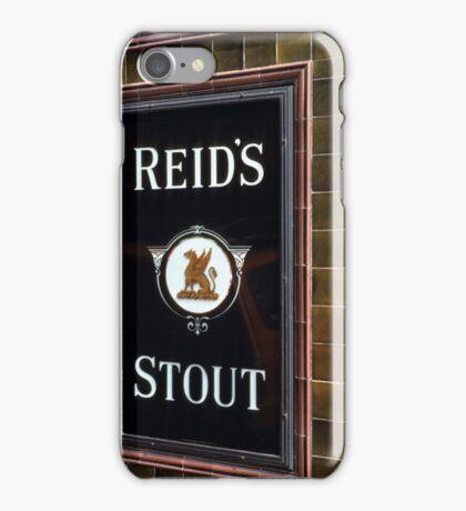 Reid's stout sign at Pub entrance, London, 1975, iPhone Case/Skin