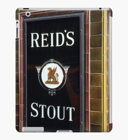 Reid's stout sign at Pub entrance, London, 1975, iPad Case/Skin
