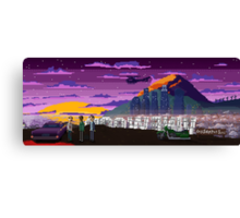 GTA V Pixeled - Los Santos Canvas Print