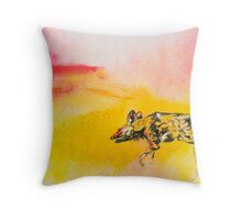 Rare Lone Moment For African Wild Dog Throw Pillow