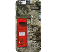 Post Box Castle Bolton N. Yorkshire, UK, 1980s. iPhone Case/Skin