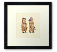 Bear Couple Framed Print