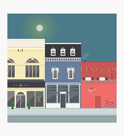 Urban Town Scene  Photographic Print