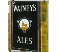 Watney's beer sign at Pub entrance, London, 1975, iPad Case/Skin
