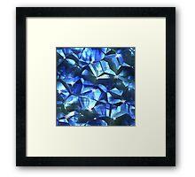 Blue Crystal Framed Print