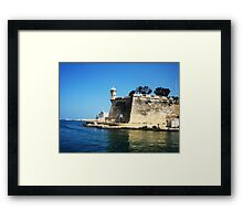Lookout Tower - Malta Framed Print