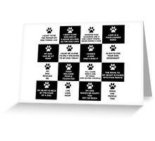 Dog Lover's Slogans and Sayings Greeting Card