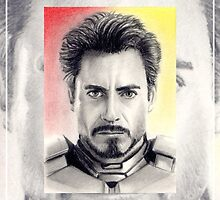 Robert Downey Jnr. miniature by wu-wei