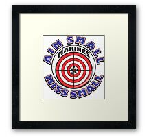 AIM SMALL MISS SMALL - MARINES Framed Print