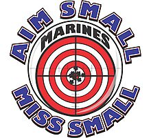AIM SMALL MISS SMALL - MARINES Photographic Print