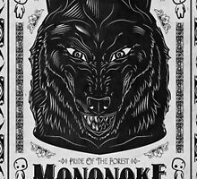 Prince Mononoke Black Wolf by UniqueCase