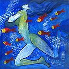 The mermaid and red fishes by Alessandro Andreuccetti