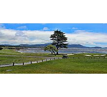 Pebble Beach Painted Photographic Print
