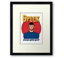 Spock - Vulcans Never Bluff Framed Print