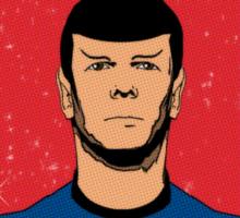 Spock - Vulcans Never Bluff Sticker