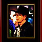 """""""Mysterious Stranger in Town"""" ... with a canvas and framed presentation, for prints and products by © Bob Hall"""