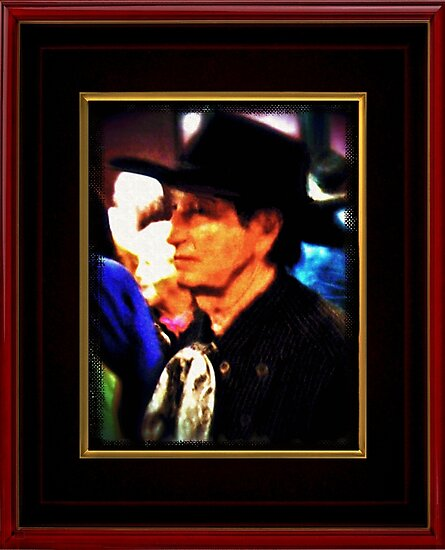 """Mysterious Stranger in Town"" ... with a canvas and framed presentation, for prints and products by © Bob Hall"