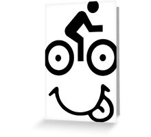 Bicycle Face Greeting Card