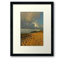 Tidal Sand Formations, Kauai Framed Print