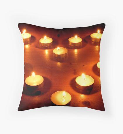Loving Flame Throw Pillow
