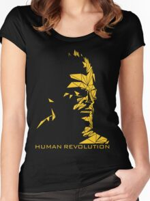 Human Revolution Women's Fitted Scoop T-Shirt